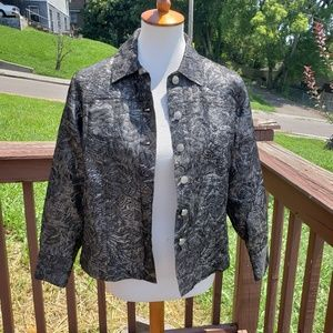 Black and Silver Shimmer Threaded Jacket